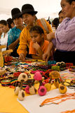 Crafts for sale at Ecuador Fiesta Stock Photography