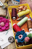 Crafts and sewing accessories Stock Photography