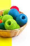 Crafts and sewing basket Royalty Free Stock Photos