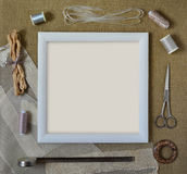 Crafts and Sewing Mock up Royalty Free Stock Photos