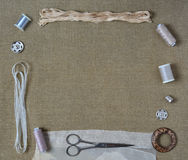 Crafts and Sewing Set Stock Photos