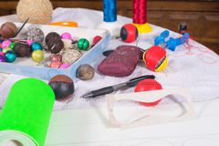 Crafts still life royalty free stock photography