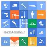 Crafts and tools icon set Royalty Free Stock Image