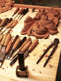 Crafts of wood Stock Image