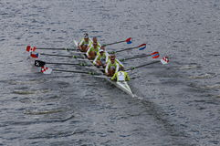 Craftsbury Sculling Center races in the Head of Charles 2014 Stock Photo
