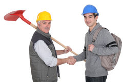 Craftsman and apprentice Stock Photos