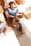 Craftsman in Bali Royalty Free Stock Photo