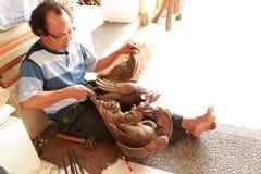 Craftsman in Bali Stock Photos