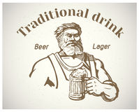 Craftsman and of beer. Royalty Free Stock Images