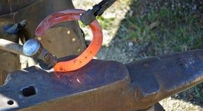 Craftsman: blacksmith at work Stock Images