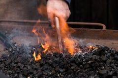 Craftsman: blacksmith at work royalty free stock images