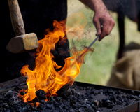 Craftsman: blacksmith at work Royalty Free Stock Image