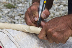 Craftsman carver Royalty Free Stock Image