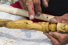 Craftsman carver Royalty Free Stock Photos