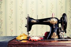 Craftsman. Seamstress closeup human clothing thailand street Royalty Free Stock Photography