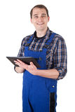 Craftsman with digital tablet Stock Photography