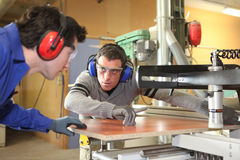 Craftsman and his apprentice Stock Photos