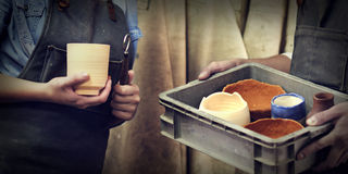 Craftsman Ideas Handmade Creation Artist Concept Royalty Free Stock Images