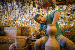 Craftsman make pottery Royalty Free Stock Photography