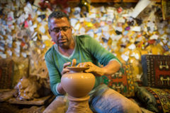 Craftsman make pottery Royalty Free Stock Photo