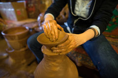 Craftsman make pottery Stock Photos