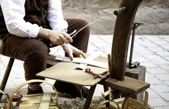 Free Craftsman Making Baskets Royalty Free Stock Photography - 144853807