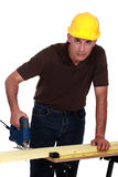 Craftsman making holes Stock Photo