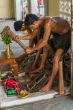Craftsman making leaf gold Stock Image