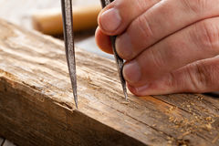 Craftsman measuring Stock Images