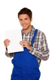 Craftsman, plumber, construction worker Stock Photography