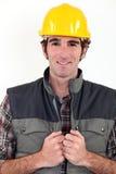 Craftsman posing Royalty Free Stock Image