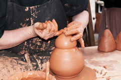 Craftsman potter Stock Image
