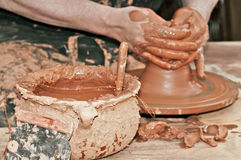 Craftsman potter Stock Images