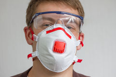 Craftsman with safety protection gear Stock Images