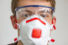 Craftsman with safety protection gear Royalty Free Stock Image