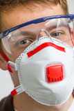 Craftsman with safety protection gear Royalty Free Stock Photos