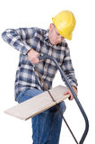 Craftsman with saw Stock Photography