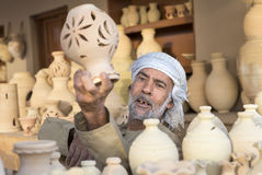 craftsman sellin clay jars Stock Images