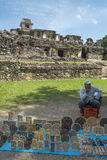 Craftsman sells decoration at Palenque in Mexico Royalty Free Stock Photos