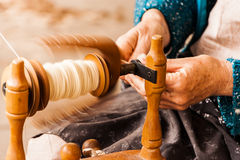 Free Craftsman Spinning Cotton Royalty Free Stock Photos - 51683118