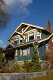 Craftsman Style House 1. A Craftsman Style house in autumn royalty free stock photo