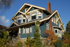 Craftsman Style House. A Craftsman Style house in autumn stock photo