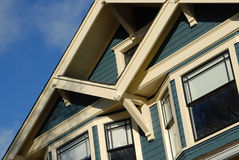 Craftsman Style House Detail. Detail of Craftsman Style house in autumn royalty free stock photography