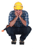 Craftsman thinking Royalty Free Stock Image