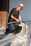 Craftsman Toader Barsan. From Barsana,Maramures county,Romania Stock Photo