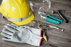Free Craftsman Tool, For Man Worker, Safety Stock Photography - 121946312