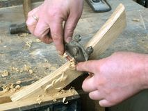 Craftsman using handtools Royalty Free Stock Photos