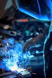 Craftsman weld steel Stock Images