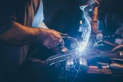 Craftsman weld steel. Stock Photos