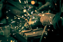 Craftsman weld steel Stock Photo